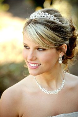 Wedding Hairstyles Updo with tiara and veil attached in the back Wedding Hair & Makeup Pinterest
