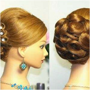 Updo For Medium Length Hair Bridal Updo Wedding Hairstyles For