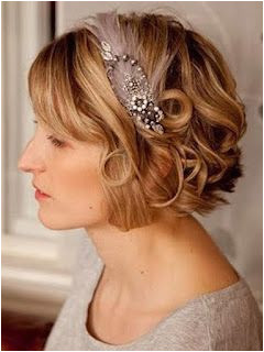 short bob hairstyles for bridesmaid