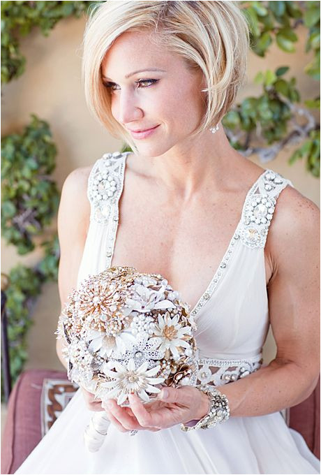 Brides Wedding Hairstyles for Brides with Short Hair A Sleek Bobbed Hairstyle