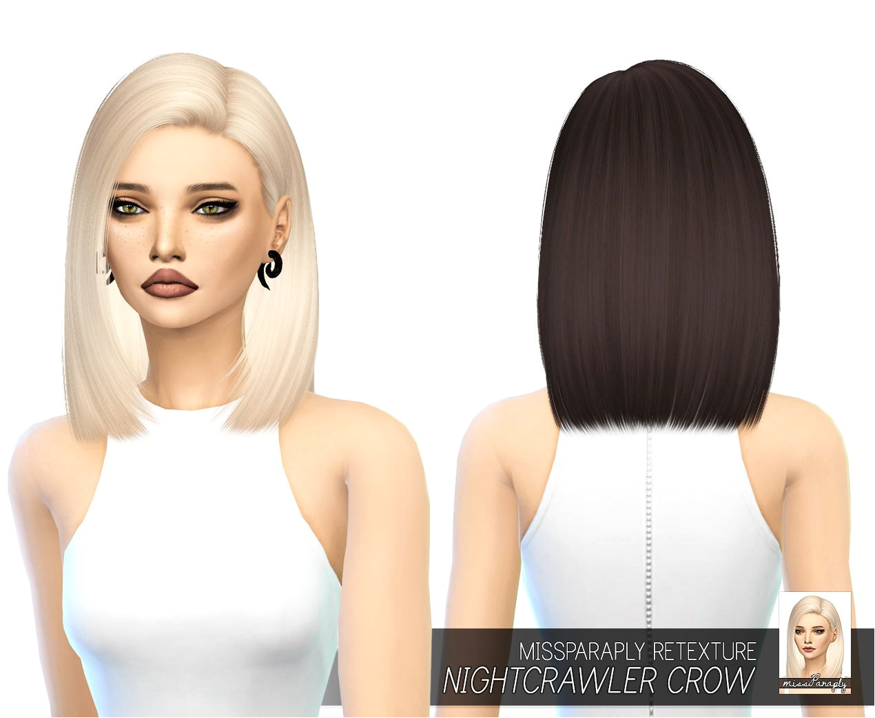 Sims 4 CC missparaply [TS4] Nightcrawler Crow Solids 64