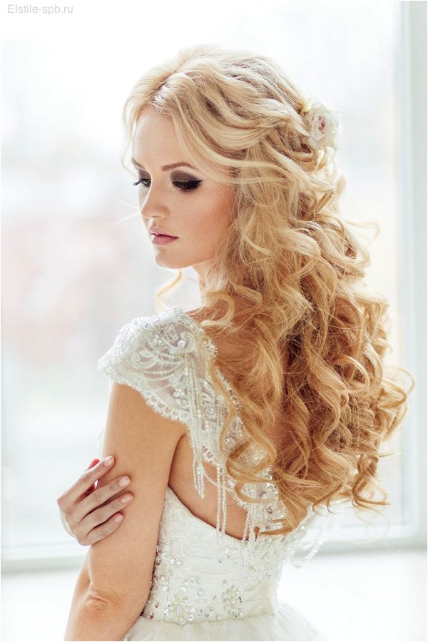 Top 20 Down Wedding Hairstyles for Long Hair Reception Pinterest