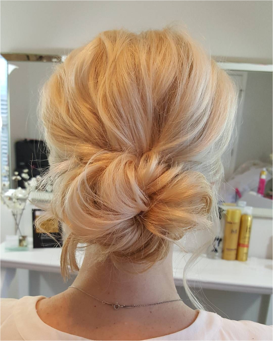 Low Bun Bridal Hair Hair Updos For Wedding Simple Wedding Updo Messy Wedding