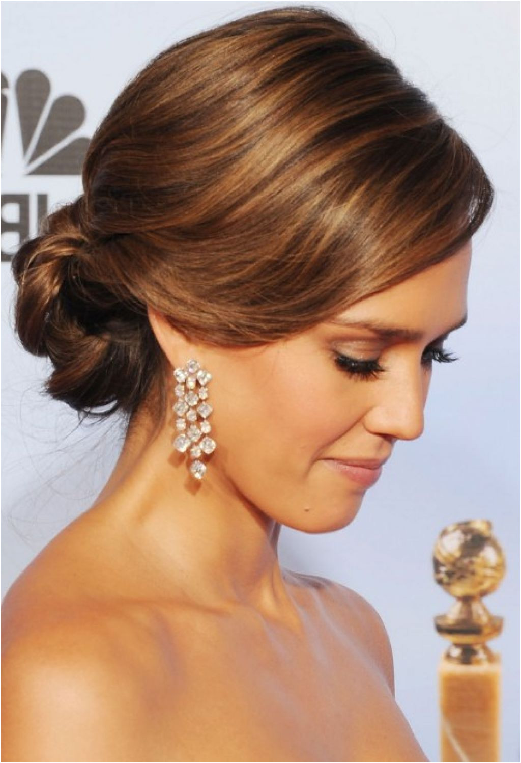 Wedding Hairstyles Ideas Side Ponytail Formal Straight Low Updo Wedding Guest…