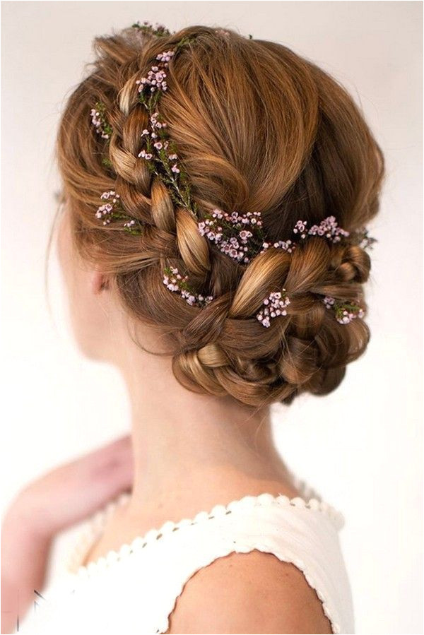 updo wedding hairstyles with flower crown hairstylesrecogido