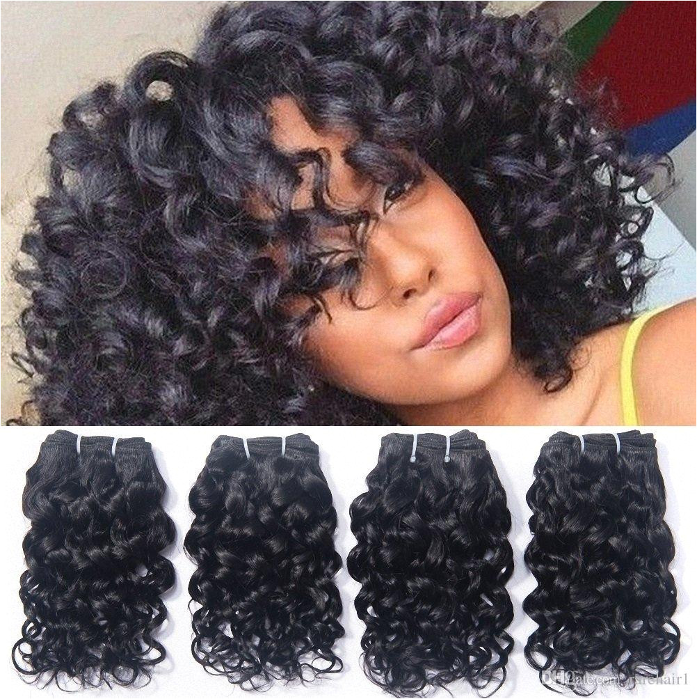 Brazilian Curly Human Hair Weave 4 Bundles Unprocessed Virgin Remy Wet And Wavy Extensions 8A Grade Human Hair Weave Extensions 50g Bundle Remy Hair Weave