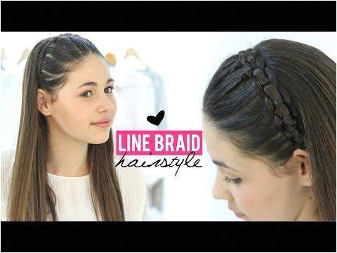 Line braid hairstyle tutorial