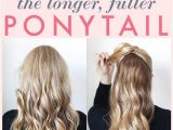 1 Minute Hairstyles for Curly Hair 1 Minute Makeover the Longer Fuller Ponytail Cool
