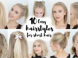 10 Easy Quick Everyday Hairstyles for Short Hair New Hairstyle for Short Hair Tutorial Hairstyles Library