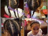 2 French Braids Hairstyles Braided Headband and 4 Corn Rolls Down the Back