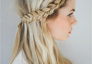 2 Plaits Hairstyles for School Front Row Braid Tutorial Barefoot Blonde Hair