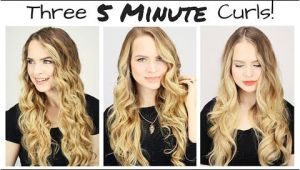 3 Cute Hairstyles Under 3 Min This Will Actually Teach You How to Curl Your Hair In 5 Minutes
