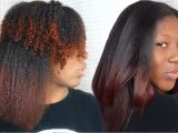 4c Hair Very Dry Curly to Straight Hair Tutorial