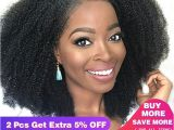 4c Virgin Hair Extensions Glueless Brazilian Lace Front Wig 4b 4c Afro Kinky Curly Human Hair