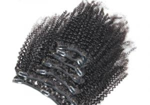 4c Virgin Hair Mongolian Afro Kinky Curly Clip In Human Hair Extensions Clips In 4b