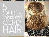 5 Easy Hairstyles for Curly Hair 5 Quick Look for Curly Hair Hair Pinterest