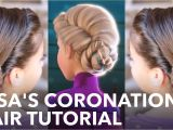 5 Easy Hairstyles for School Youtube Elsa S Frozen Coronation Hairstyle Tutorial