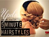 5 Minute Easy Hairstyles for School 5 Minute Hairstyles