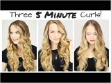 5 Minute Hairstyles Curly Hair This Will Actually Teach You How to Curl Your Hair In 5 Minutes