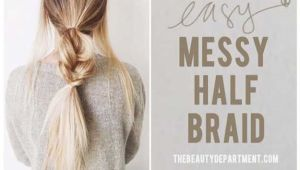 5 Minute Hairstyles for School Step by Step Splendid Best 5 Minute Hairstyles – Messy Half Braids and Ponytail