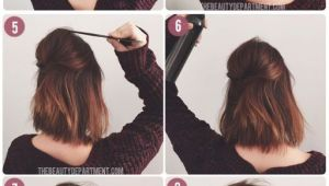 8 Easy Hairstyles for Short Hair Short Hair Half Up In 8 Easy Steps Using This Tutorial Via
