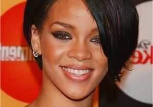 8 Inch Bob Hairstyles Custom Super Star Rihanna Hairstyles Short Straight 8 Inches Black
