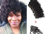 8 Inches Curly Hairstyles Kiss Hair 8 Inch Deep Wave Unprocessed Virgin Remy Human Hair Weave