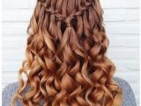 8th Grade Graduation Hairstyles for Curly Hair Waterfall Braid with Curls for Every Goddess Hairs