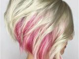 A Line Hairstyles 2019 Red Peekaboo Platinum Blonde Short A Line Hairstyles 2019 for Women