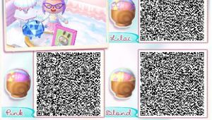 Acnl Boy Hairstyles Animal Crossing New Leaf Light Purple Qr Code Google Search