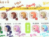Acnl Hairstyle Colours Acnl Hair Color Guide