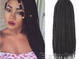 African Jumbo Braids Hairstyles wholesale Classical Black 3x Box Braid for All Color Hairstyles 24