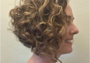 Angled Bob Haircut for Curly Hair 20 Cute Hairstyles for Naturally Curly Hair In 2017