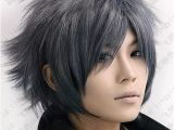 Anime Haircut Hairstyles Black Gray Hair Google Search Hair In 2019