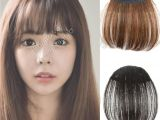 Anime Hairstyle Bangs Natural Bang False Hair Bangs Black Light Brown Dark Brown Clip In