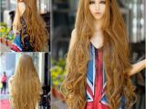 Anime Hairstyle Wig Super Long 100cm Full Wigs Fashion Cosplay Costume Hair Anime Wavy