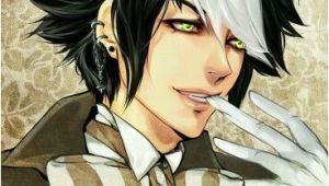 Anime Hairstyles Black Black White Hair Anime Mad Hatter Random Anime Guys Boys