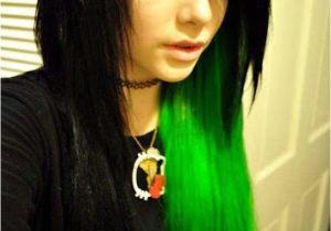 Anime Hairstyles Emo Emo Girl Black and Green Hair Emos ♥