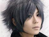 Anime Hairstyles Medium Hair Black Gray Hair Google Search Hair In 2019
