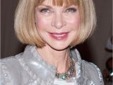 Anna Wintour Bob Haircut Celebrity Fringe Hairstyle that Make You Want Bang