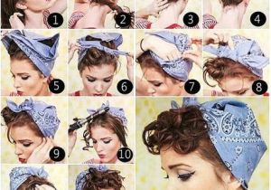Bandana Hairstyles Hair Down 50s Hairstyles with Bandana Tutorial Foto & Video