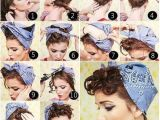 Bandana Hairstyles with Hair Up 50s Hairstyles with Bandana Tutorial Foto & Video