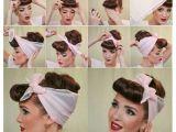 Bandana Hairstyles with Hair Up Coiffure Avec Un Foulard Ou Bandana Fa§on Pin Up Rockabilly Des