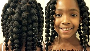 Biracial Girl Hairstyles Cute and Easy Hair Puff Balls Hairstyle for Little Girls to