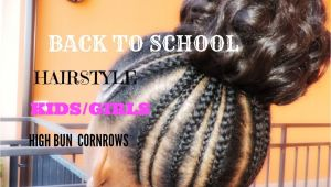 Black Girl Back to School Hairstyles Back to School Hairstyle for Kids Girls Simple and Cute 1