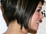 Black Hair Bobs Layered Haircut Of Short Hair Color