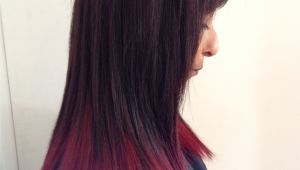 Black Hairstyles Dip Dye Red Dip Dyed Hair Hairr