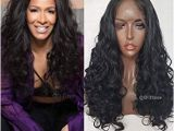 Black Hairstyles Lace Front Wigs Amazon Qd Tizer Long Wavy Hair Synthetic Lace Front Wigs with