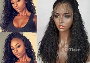 Black Hairstyles Lace Front Wigs Qd Tizer Black Curly Synthetic Lace Front Wigs 180 Density Loose