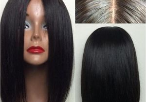 Black Hairstyles Lace Front Wigs Silky Straight Brazilian Virgin Hair Lace Front Wigs Short Bob Human